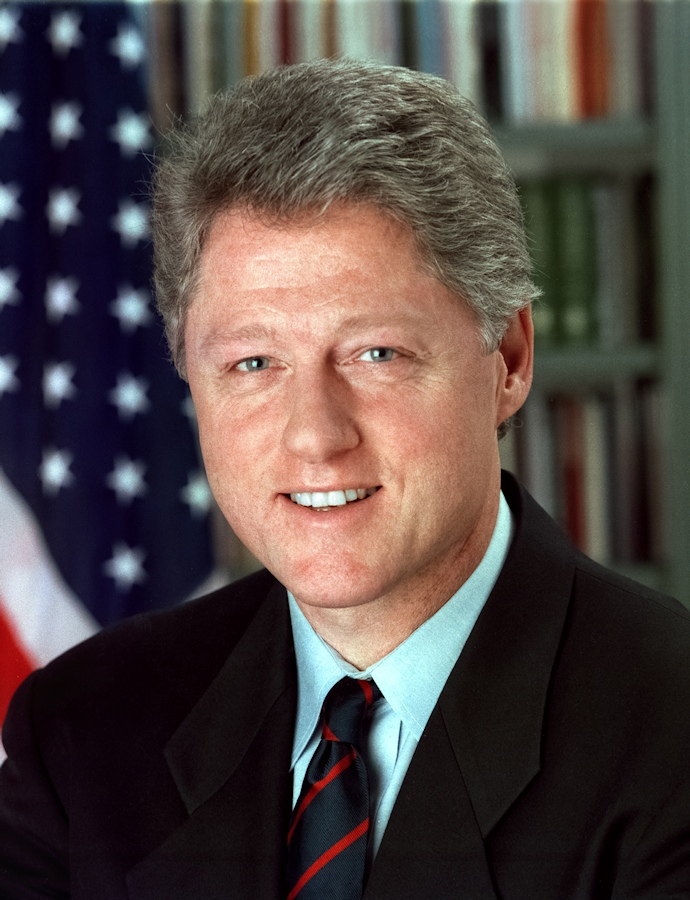 President William J. Clinton, official whitehouse portrait